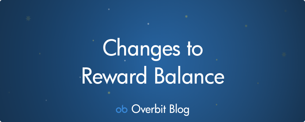 Changes to Reward Balance