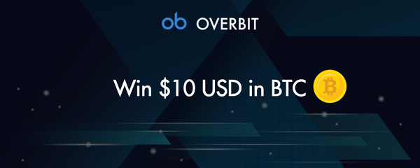 Win $10 USD in BTC During Overbit's First Year Anniversary Celebration