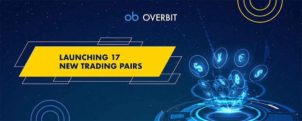 Overbit launches additional 17 New Trading Pairs
